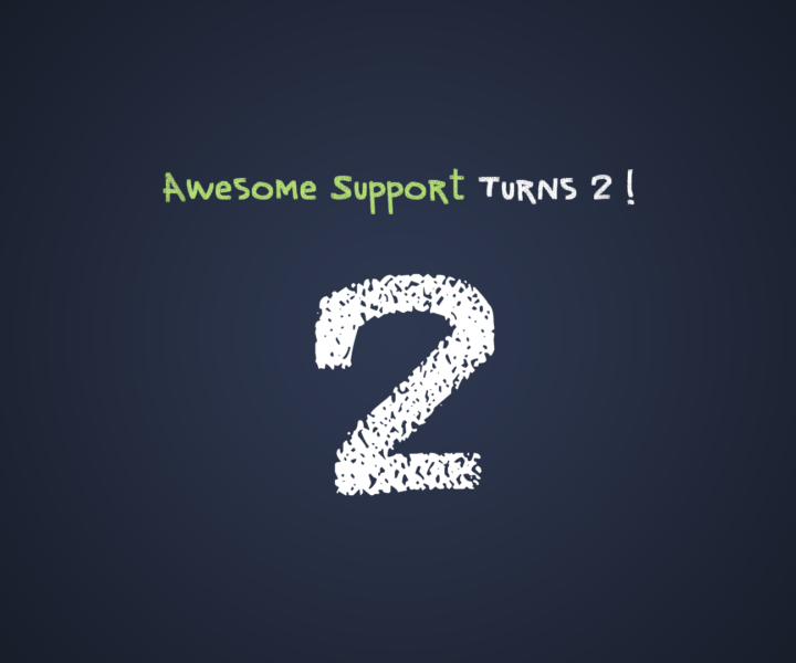 Awesome Support Turns 2 !