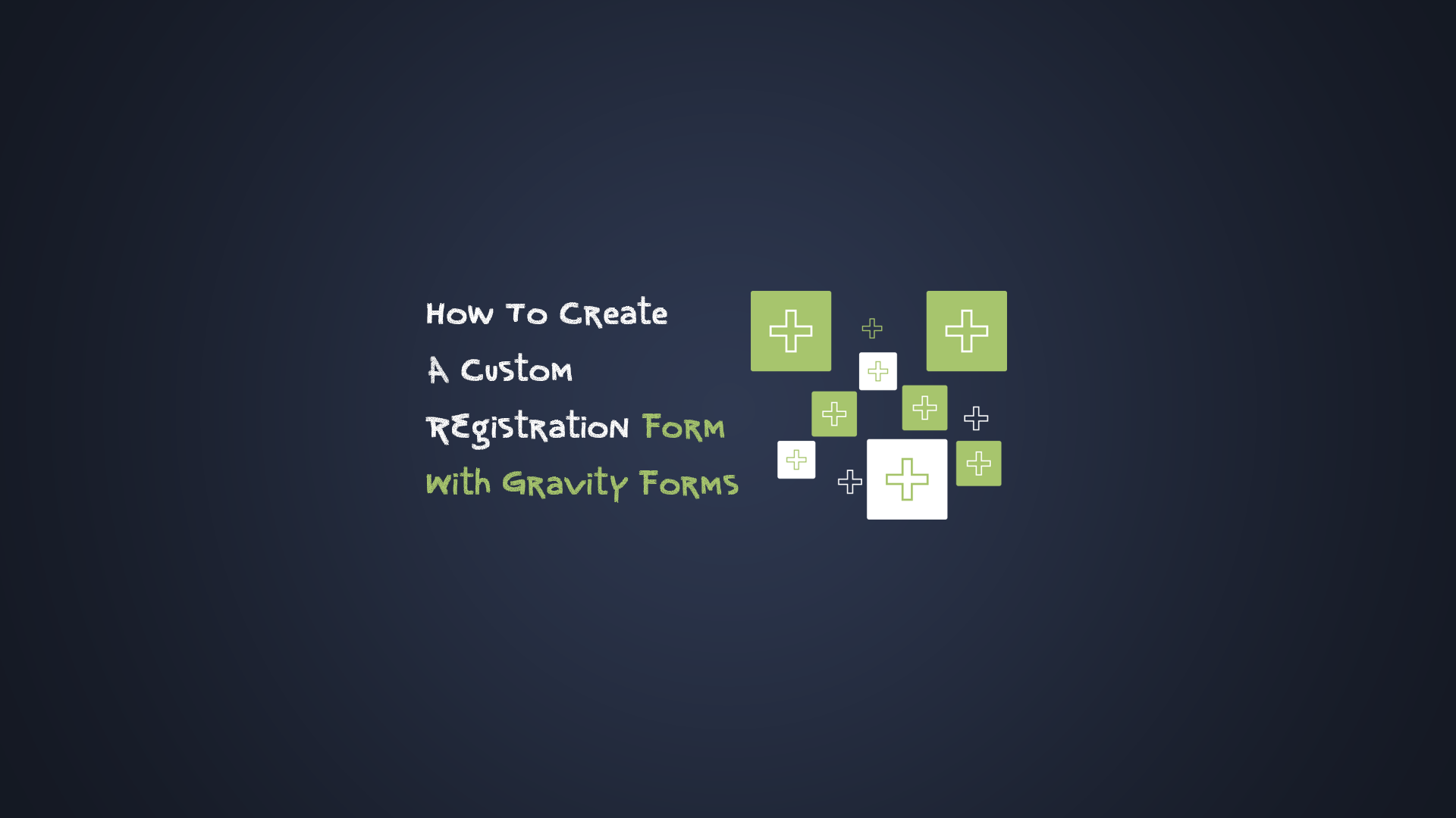 How to create a registration