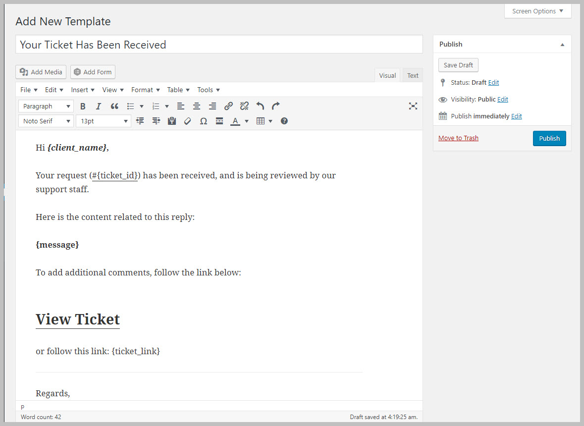 email templating