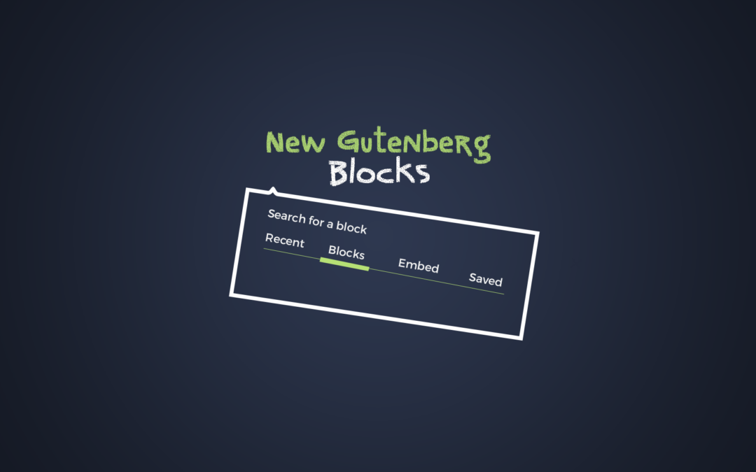 New Gutenberg Blocks