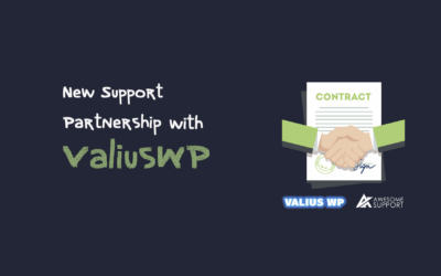 New Support Partnership With ValiusWP