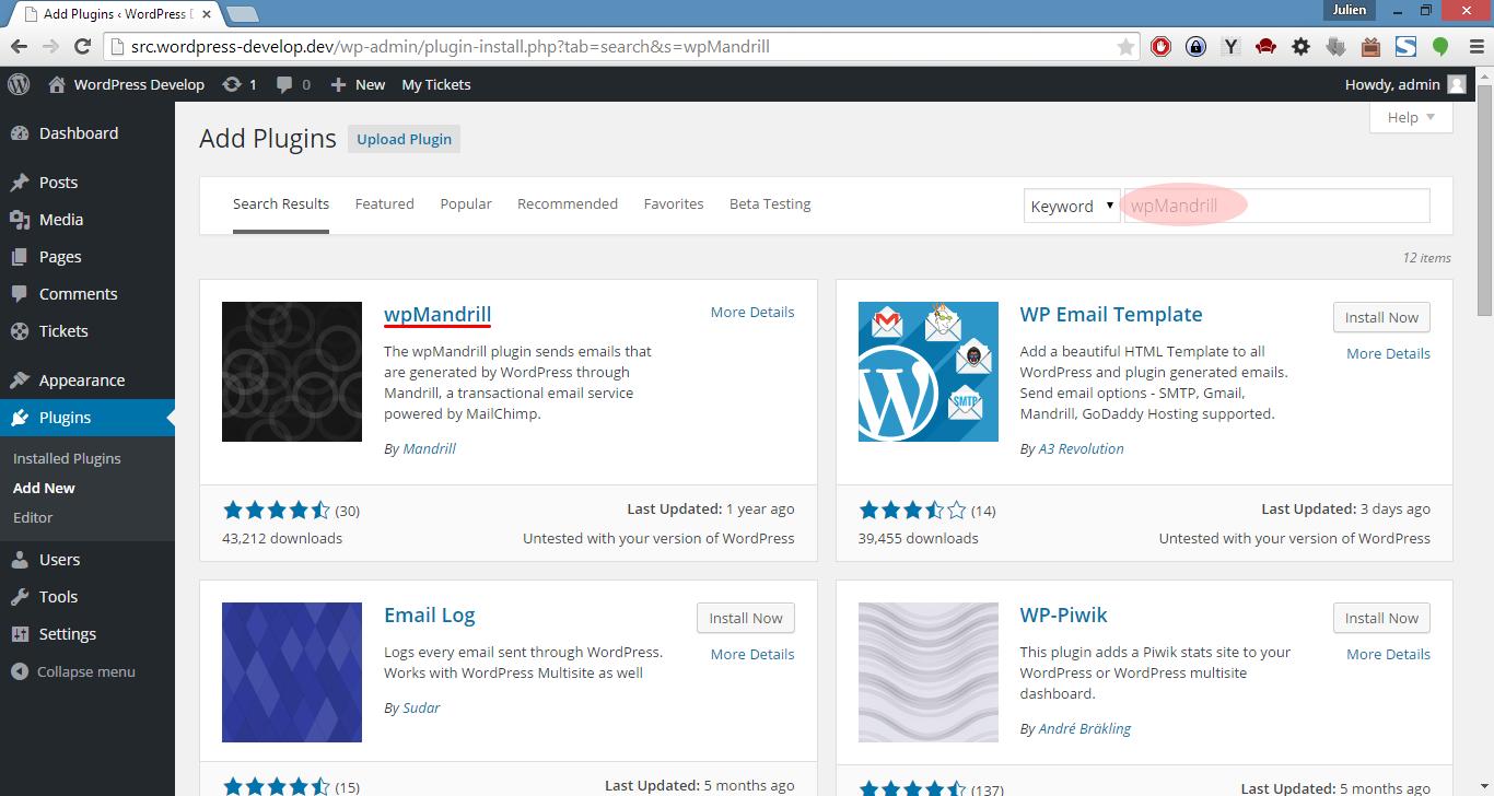 wpMandrill for WordPress