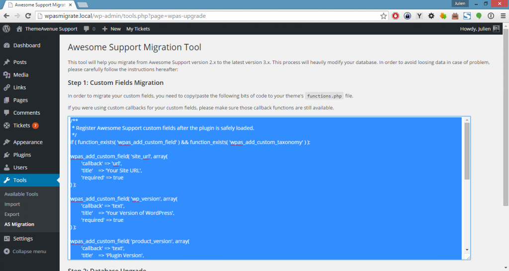 Migrate Custom Fields