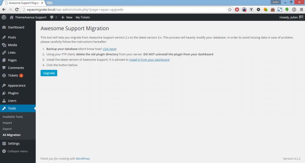Awesome Support Migration Tool