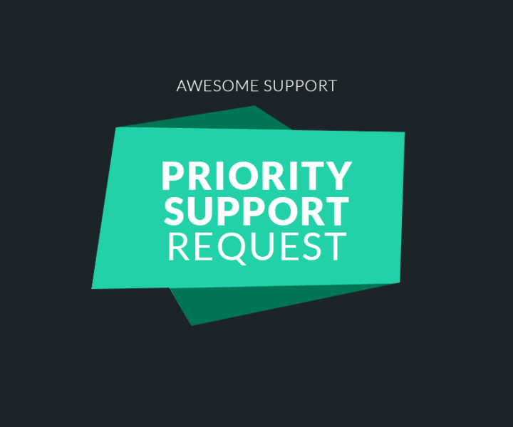 Priority Support Request