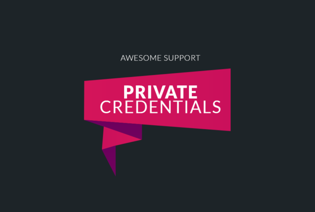 New Extension: Private Credentials
